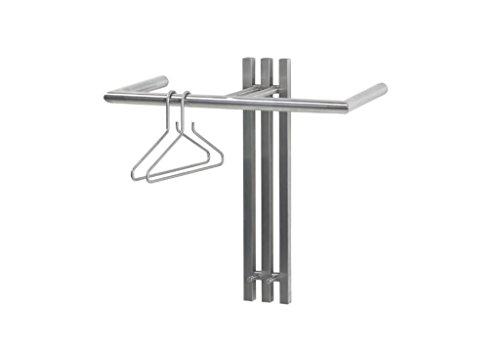Spinder Design GW470-62 Senza 1 Wandgarderobe/Garderobe 2 Haken, Edelstahl, 63.5x65x28 cm