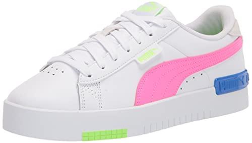 PUMA Ladies's Jada Sneaker, White-Fluo Crimson-Green Glare-Bluemazing, 7.5 thumbnail
