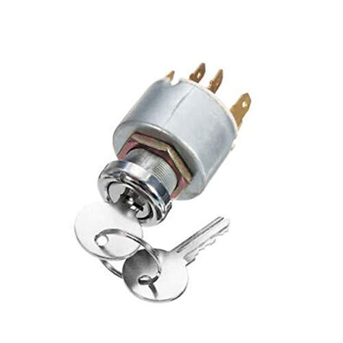 Interruptor de arranque de encendido Interruptor de encendido del motor de arranque 12 V universal Cerradura de encendido de con llave, 5 pines / 7 pines