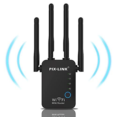 Amplificador Señal de WiFi,Amplificador WiFi Extensor Repetidor de WiFi para Casa 300Mbps/2.4 GHz Repetidores WiFi Amplificador Extensor de Red WiFi Repetidor Inalámbrico con Botón WPS