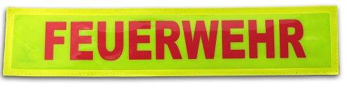 TacFirst Erwachsene Rückenschild TacFirst Rückenschild 38 x 8 cm Feuerwehr inkl. Velourband, Rot, 1 SZ, TF5050-FW-R
