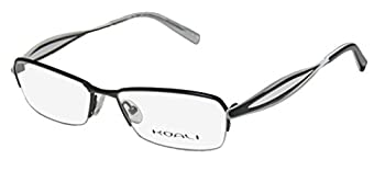 Koali By Morel 7123k For Ladies/Women Designer Half-rim Elegant Inspired By Nature Hip Eyeglasses/Glasses  52-16-135 Black/White