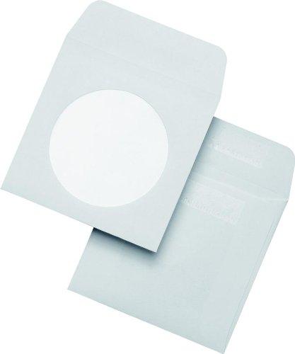 50 Mini CD DVD Hüllen 85x85 Papierhüllen selbstklebend