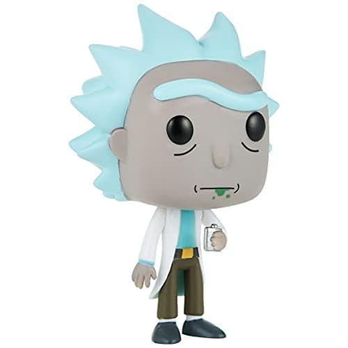Funko- Pop Bobble Morty Personaggio Rick, Colore Dusty Blue, Standard, 9015