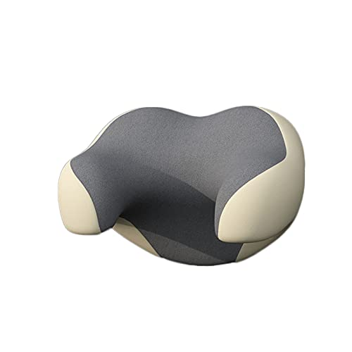 SHIFWE - Almohada de reposacabezas para asiento de coche, viaje, almohada ajustable para el cuello en la cabeza o en forma de U