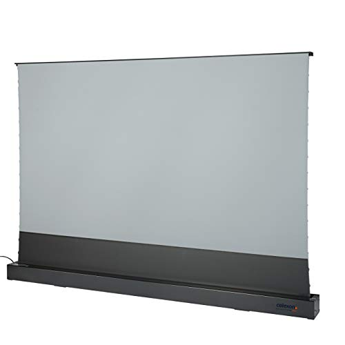 celexon home cinema and business floor screen for ultra short throw projectors - 100'- 221.4 x 124.5cm - Highly reflective Gain 0,6-4K UHD – Black