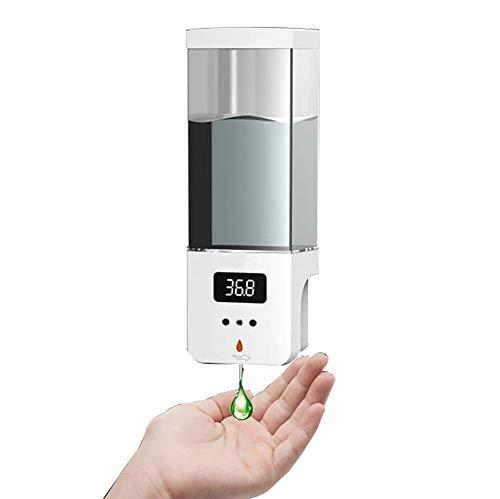 WOERD Dispensador de Jabón Automático 600ml Gel Hidroalcoholico,Contacto Dispensador de Jabón con Sensor Infrarrojo,Transmisión de Voz,para Cocina,Baño,Escuela,Hospital,Hotel