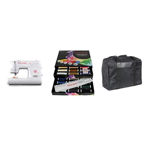 Gritzner Dorina 323 Vrije arm naaimachine -> met de starterset onmiddellijk aan de slag en super resultaten naaien Dorina 323 + Ackermann naaigaren box (zwart) + bijpassende draagtas