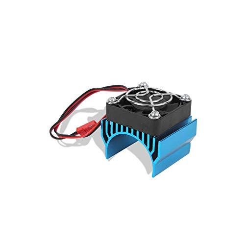 6 Kühlkörperkühler mit Lüfter Kühler Kühlrippe Geeignet für Motor mit 36 mm Außendurchmesser für bürstenlosen 3650 Motor(Blue)