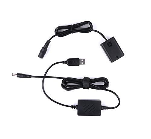 NP-FW50 Coupler Dummy Akku, AC-PW20 Single USB Netzteil für Sony NEX-3 Serie, NEX-5N / 5R / 5C / 5T Serie, NEX-6 Serie, NEX-7 Serie, a5000, a6300, a6000, A33, DSC-RX10 RX10 II
