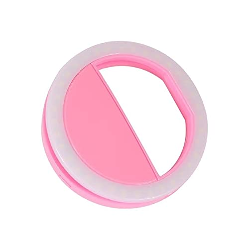 Pink 36LEDS Teléfono Móvil Clip de Luz Selfie Led Flash Auto para teléfono celular Smartphone Selfie Flashlight Makeup Mirror para cámara de fiesta