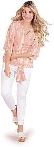 Mud Pie womens Small Medium Mud Pie Women Blush Jolene Tie Front Top Small Medium Blush Small product image
