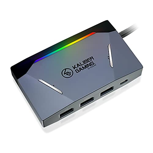 IOGEAR KeyMander 2 3Play-Adaptador de teclado y ratón para un máximo de 3 consolas de juegos, compatible con PS4, Xbox Series X|S (o 2 consolas y 1 PC), configurable con dispositivo móvil(Android,iOS)