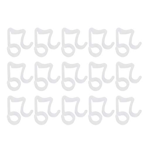 Healifty weihnachtslicht clips outdoor hängen haken lampenfassung für rinne schindel lichter zubehör 100 stücke (weiß)