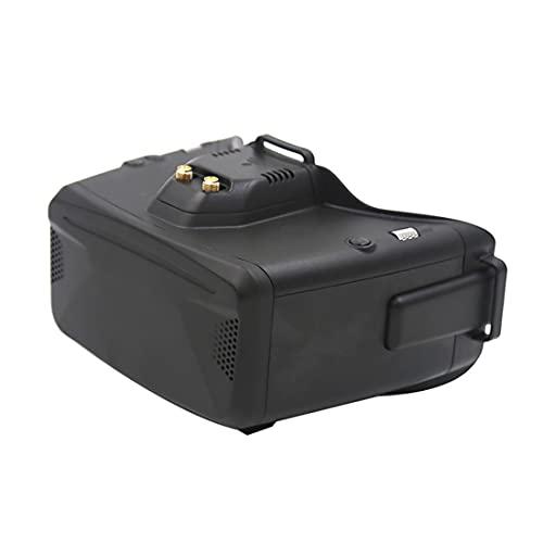 SKYZONE Cobra S 800x480 4.3inch Cobra X 1280x720 4.1inch 5.8G 48CH RapidMix Receiver Head Tracker DVR FPV Goggles for FPV Racing Drone (Black Cobra X)