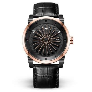 Zinvo Blade Spirit automático Turbina acero IP oro rosa negro fecha zafiro reloj de los hombres