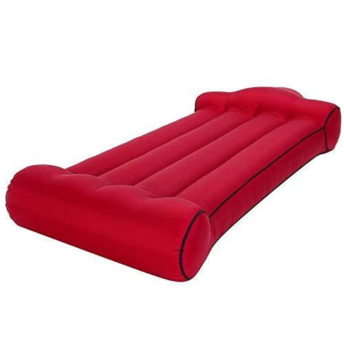 Aufblasbares Bett für den Außenbereich, tragbar, wasseraufblasbar, für Camping, aufblasbar, Doppelbett, 190 x 110 x 35 cm