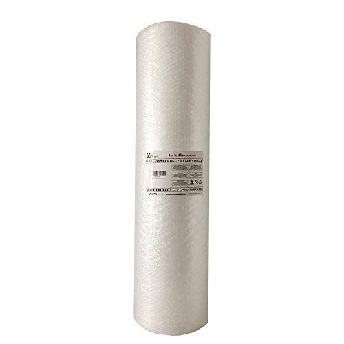 ZS PACK - Rollo de Plastico de Burbujas Para Embalar de 1 Metro de Ancho x 25 Metros Largo - 25 m2 de Papel Burbujas Transparente [Triple Capa & Burbuja Densa - 1cm]