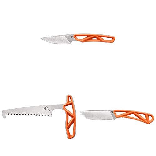 Gerber EXO MOD Knife/Saw Hunting Backpacking Set, Hunter Orange
