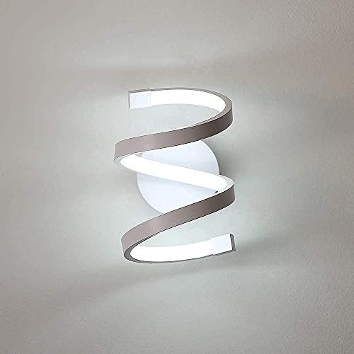 Goeco Lampada da Parete interno LED, Applique da Muro acrilico 18W, Lampada Muro Applique spirale per Soggiorno Camera da letto Tromba delle scale, luce bianca fredda