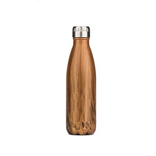 NYCROSSER thermosfles van roestvrij staal, dubbelwandig, BPA-vrij, met schroefsluiting, voor fitnessstudio, wielrennen, 350/500 ml