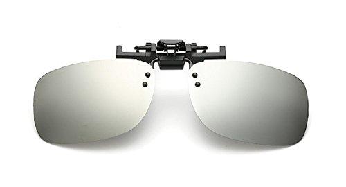 Embryform Retro Polarisierter Clip auf Flip up Plastik Sonnenbrille Fahren Angeln Reisen