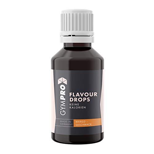 Flavour Drops 50ml - GymPro Liquid Aroma Tropfen vegan für Quark, Jogurt, Porridge uvm. | - Süßungsmittel mit Geschmack - ohne Kalorien - Geeignet für Diabetiker (Mango)