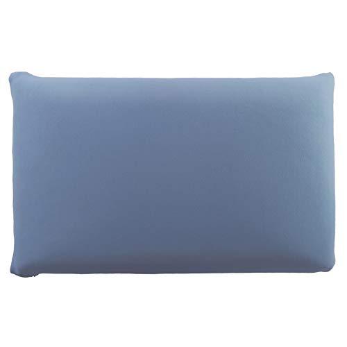 Edda Lux - Funda para almohada (72 x 42 cm, 70 x 42 cm, 100% algodón, con cremallera), color azul vaquero