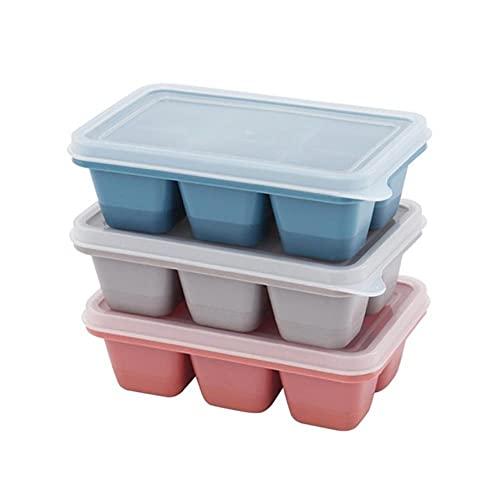 douzxc Bandeja de hielo de silicona de grado alimenticio de 15 rejillas para el hogar con tapa Molde para cubitos de hielo DIY Forma cuadrada Máquina para hacer helados Accesorios para barra de cocina