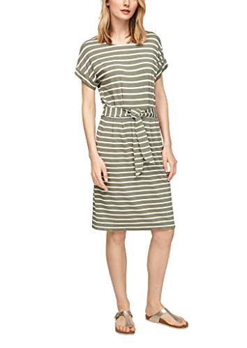 s.Oliver Damen Gestreiftes Jerseykleid summer khaki stripes 46