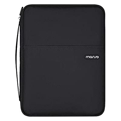 MOSISO Nursing Organizer Sleeve Case, 9 Pocket Utility Pouch for Stethoscopes, Scissors and Other Medical Supplies, Polyester All-Purpose Portable Compact Slim Bag, Black from MOSISO
