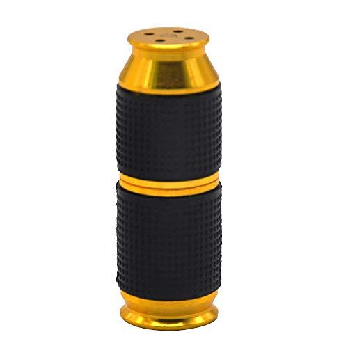 LHF Sahnespender Düsen 2 Stück Sahnebereiter Aluminiumlegierung Klein und tragbar Ledertasche Frostschutzhand Cream Whipper Dispenser (Golden)