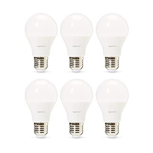Amazon Basics Professional - LED-Leuchtmittel, Edison-Schraubgewinde (E27), entspricht 60-Watt-Birne, Warmweiß, 6 Stück