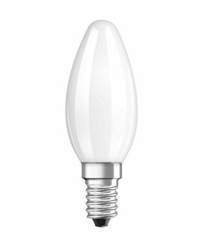 Osram Ampoule LED à Filament Dépolie | Culot E14 | Forme Flamme | Blanc Chaud 2700K | 4W (équivalent 40W)