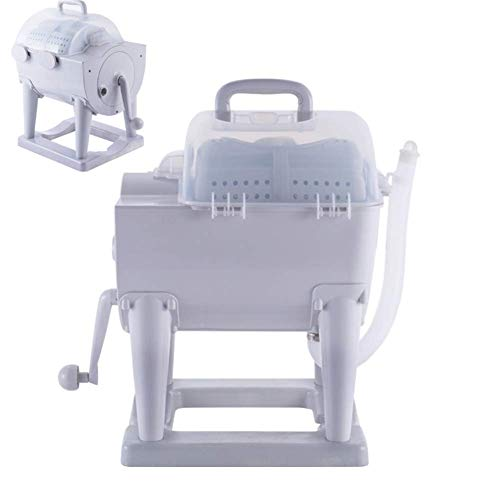 Bin Bin Tragbar Handbetriebene Manuelle Waschmaschine Handcranking Mini Waschmaschine Rotary Dryer Nichtelektrische für Camping Dorms Apartments College-Zimmer