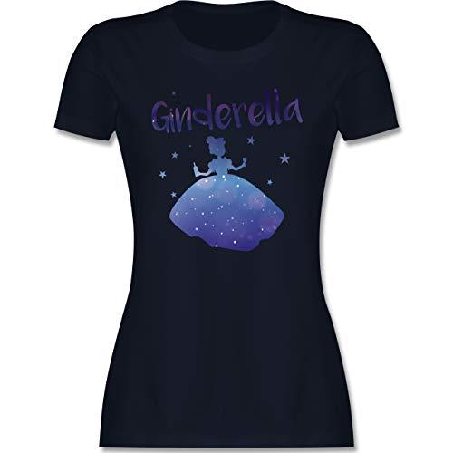 Typisch Frauen - Ginderella - XXL - Navy Blau - t Shirt Frauen Gin - L191 - Tailliertes Tshirt für Damen und Frauen T-Shirt