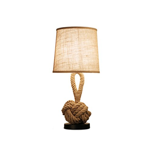 *LILY Lampen Creative Seil Lampe Studie Persönlichkeit Nachttisch Lampe Schlafzimmer Wohnzimmer europäischen Stil Tischlampe dekoriert E27*