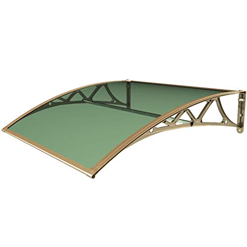 LPD Arched Silent 2.5mm PC Endurance Board with 60/80/100/120cm Aluminum Alloy Bracket, Length Can Be Customized (Color : Green+Champagne, Size : 60x80cm)