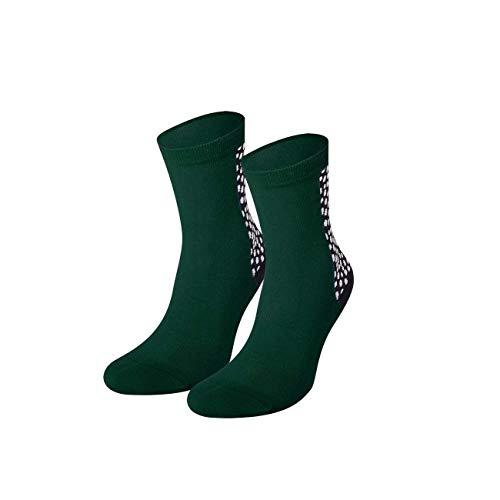 von Jungfeld - Damen Socken/Strumpf Damensocken Baumwolle 1 Paar viele Farben Lyon 39-41