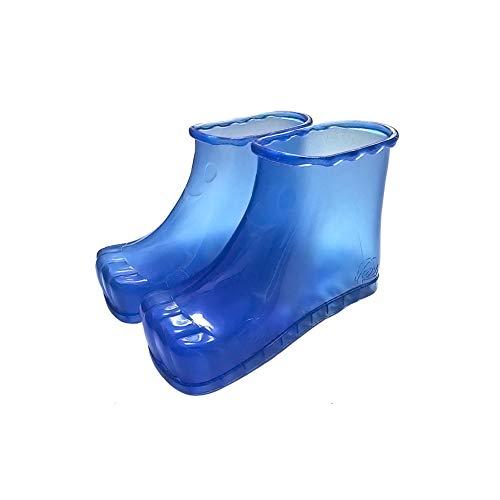 Massage Fußbadeschuhe, Camp Eimer Aufbewahrungstasche Spa Tragbare Fußmassage Badeschuhe Eimer Stiefel Fördern Die Durchblutung 1 Paar,Blau,Rot