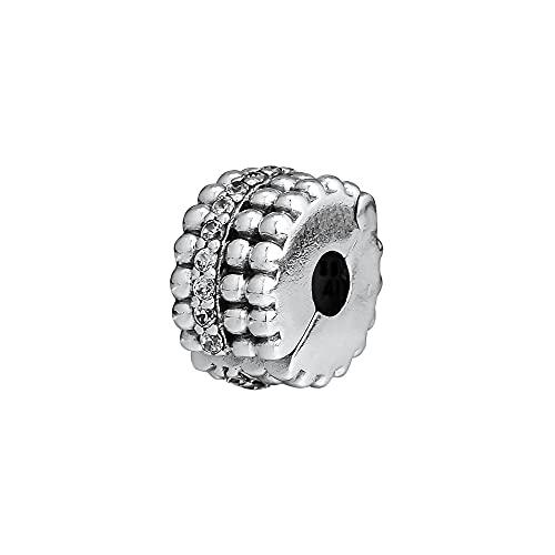 Pandora 925 Colgantes de plata esterlina Diy CKK Beads Brilliance Clip Charm Bead Fit Pulseras originales Joyería Mujeres Hombres Cuentas para hacer joyas