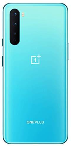 OnePlus Nord - Smartphone Débloqué 5G (Écran 6,44' Fluid AMOLED 90 Hz - 8Go RAM - 128GO Stockage - Quad Caméra) - Garantie Constructeur 2 ans - Bleu Marbre avec écouteurs