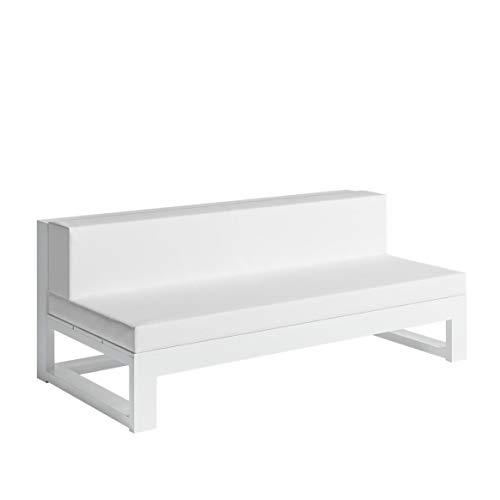 Gandia Blasco NA Xemena Sofa Modular 4, wit frame, incl. matrassen in Náutica wit H x B x D 71 x 180 x 90 cm