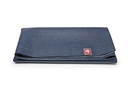 Manduka EKO Superlite Yoga Travel Mat – 1.5mm Thick Travel Mat for Portability, Eco Friendly and Made from Natural Tree Rubber. Superior Catch Grip for Traction, Support and Stability