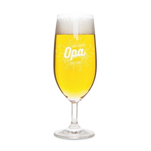 KIXY Pilstulpe von Leonardo Geschenk Gravur Bier Pilsglas - Der beste Opa der Welt