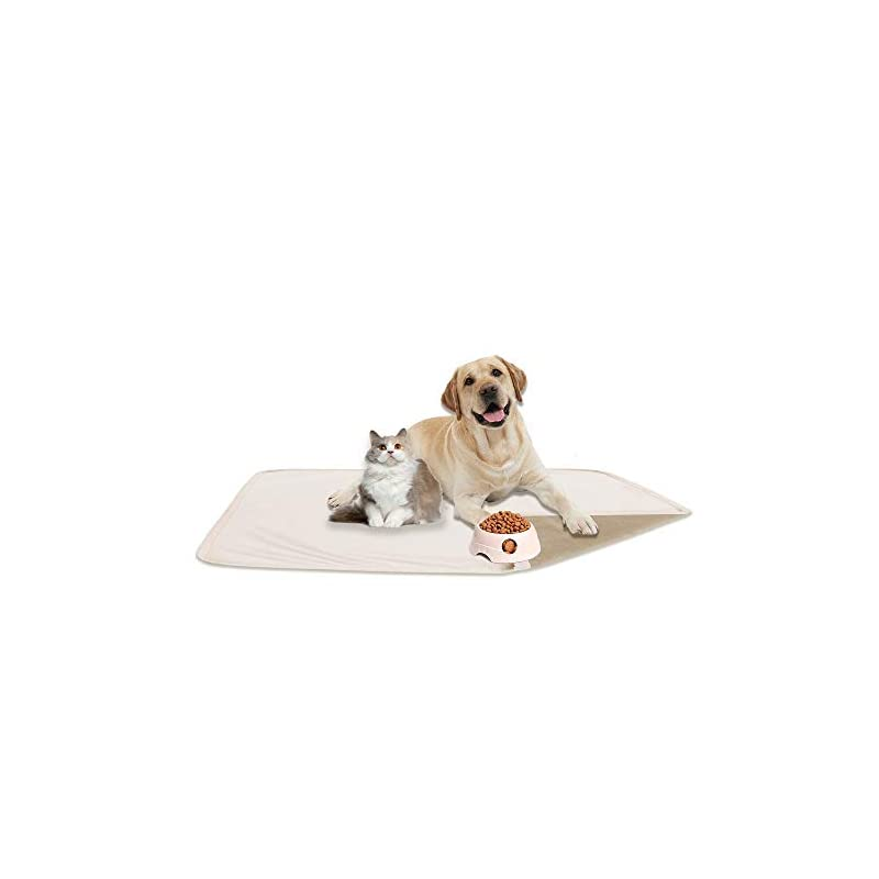 """dog supplies online fuguitex waterproof dog bed cover sofa couch cover for dog pad dog mat dog rug carpet washable resuable crystal velvet puppy pad for training (30"""" 70"""",cream+beige)"""