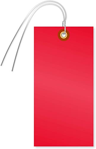 """SmartSign Blank Tyvek Shipping Tags with Wire, Size #8 