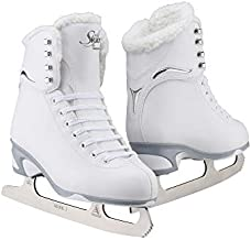 Jackson Ultima Women's/Misses/Tot's Finesse 180 High Top Lace Up Medium Support SoftSkate Figure Ice Skates, White/Fleece, 9 Women's