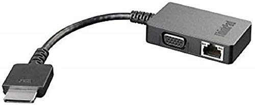 Lenovo 4X90J31060 - cable interface/gender adapters (OneLink+, VGA/RJ4), Black