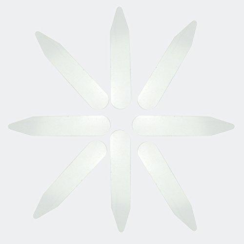 Pinzhi Set Stecche per Colletto Camicia Abbigliamento da Uomo 5,5x1cm 200pz Trasparente